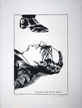 Raymond PETTIBON - Estampe-Multiple - At Least I Got To See Vegas