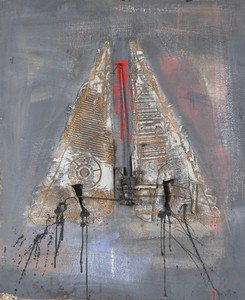 Igael TUMARKIN - Pintura - Hat with three Corners,1961