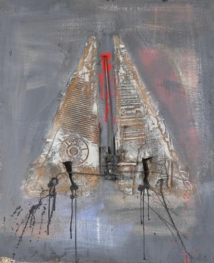 Igael TUMARKIN - Painting - Hat with three Corners,1961