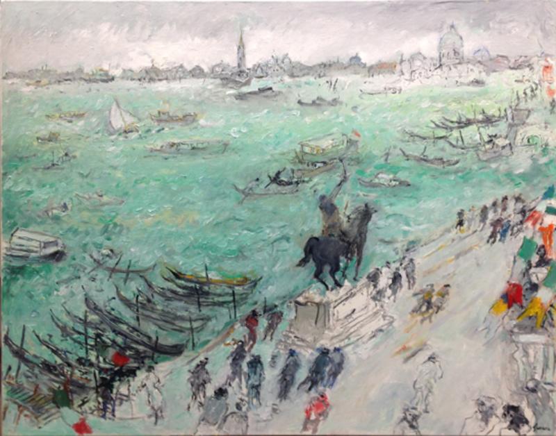 Jean FUSARO - 绘画 - Vue sur le Grand Canal, Venise
