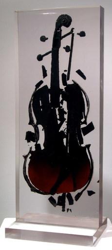 Fernandez ARMAN - Scultura Volume - BURNED VIOLIN