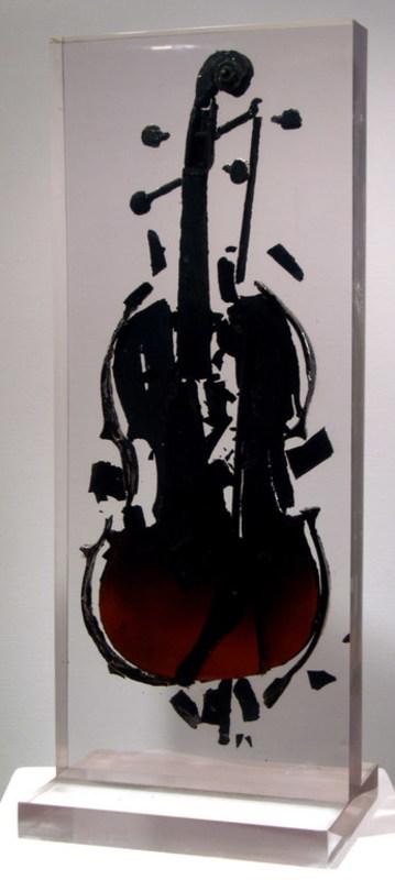 Fernandez ARMAN - Sculpture-Volume - BURNED VIOLIN