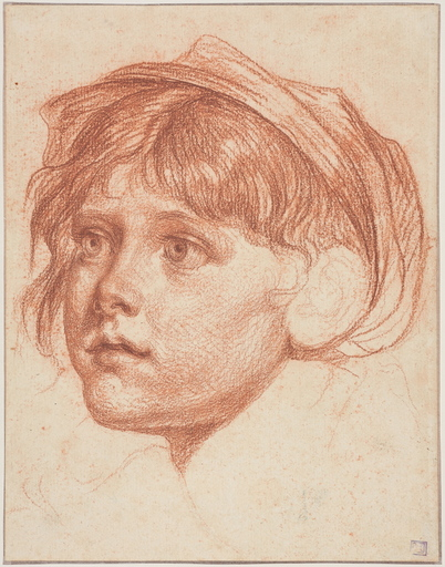 Jean-Baptiste GREUZE - Dibujo Acuarela - Jeune graçon coiffé d'un bonnet