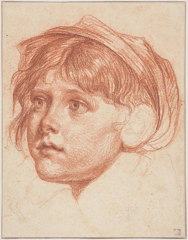 Jean-Baptiste GREUZE - Drawing-Watercolor - Jeune graçon coiffé d'un bonnet