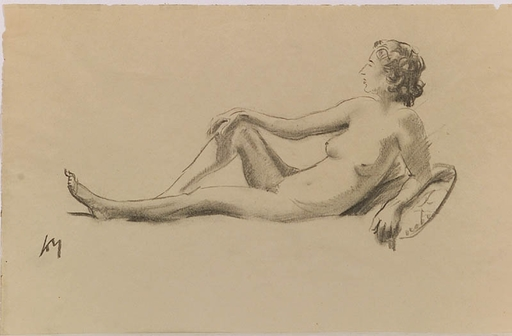 "Friedrich Albin KOKO-MIKOLETSKY - Drawing-Watercolor - ""Female Nude"", Drawing"
