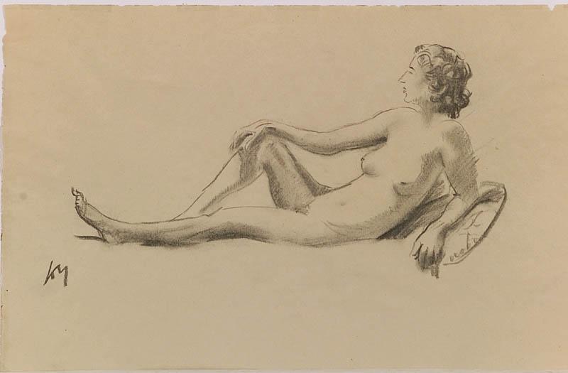 "Friedrich Albin KOKO-MIKOLETSKY - Zeichnung Aquarell - ""Female Nude"", Drawing"