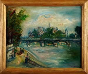 Jacques ZUCKER - Gemälde - View of Pont des Arts and Notre-Dame
