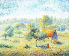 Hugues Claude PISSARRO - Painting - La ferme de Cerisy