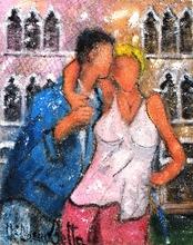 Valerio BETTA - Painting - Abbraccio a ... Venezia