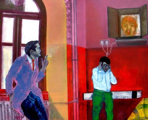 Martial MOLITOR - Painting - Lunatic Asylum (Cat N° 4058)
