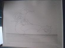 弗朗索瓦-格扎维埃•拉朗尼 - 版画 - LES  DEUX CANARDS