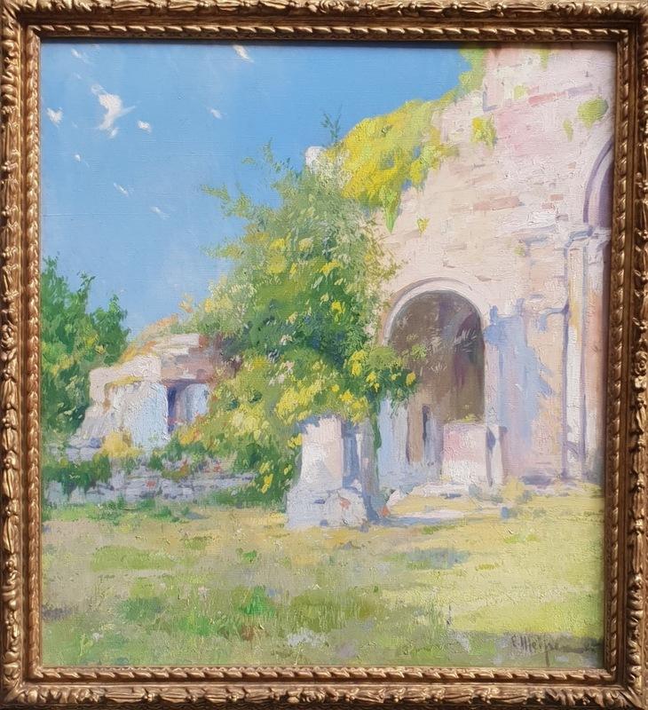 Eliseo MEIFRÉN ROIG - Painting - Santa María de Besalú