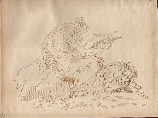 Giuseppe Bernardino BISON - Dessin-Aquarelle - San Girolamo/San Marco