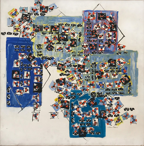 Natalia DUMITRESCO - Peinture - Casa, I tre blu, 1977