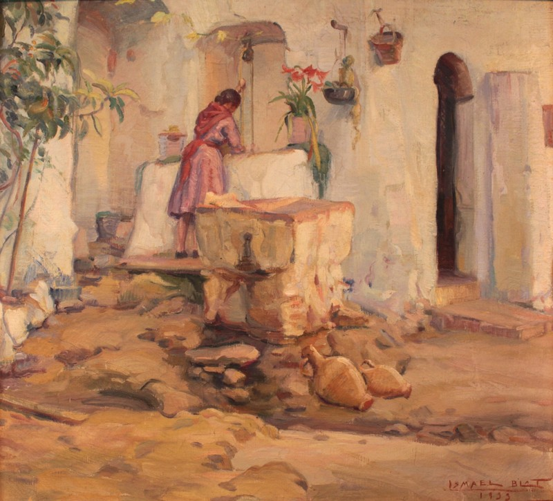 Ismael BLAT Y MONZO - Painting - El pozo