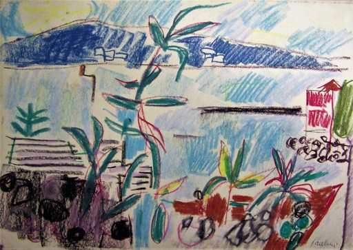 Enrico PAULUCCI - Zeichnung Aquarell - Scorcio ligure
