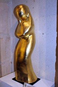 Hervé TONGLET - Sculpture-Volume - Vierge Dorée