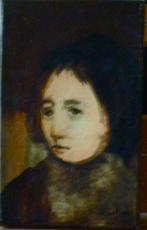 François HEAULMÉ - Peinture - Tête garçon