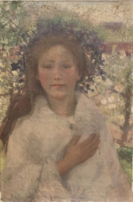 Emilio BOGGIO - Peinture - Portrait de fillette