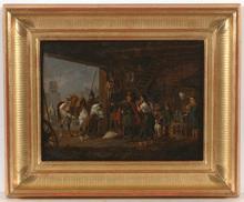 """Peter Heinrich VON HESS - Pintura - """"Don Cossacks and Saxonian Horseschoer (1813)"""", 1829"""
