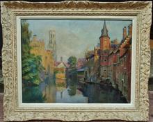 Henri PAILLER (1876-1954) - Vue de Bruges