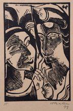 Hermann Max PECHSTEIN - Print-Multiple - Zweisprache (Dialogu)