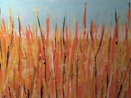Mario SCHIFANO - Pintura - Campo di grano