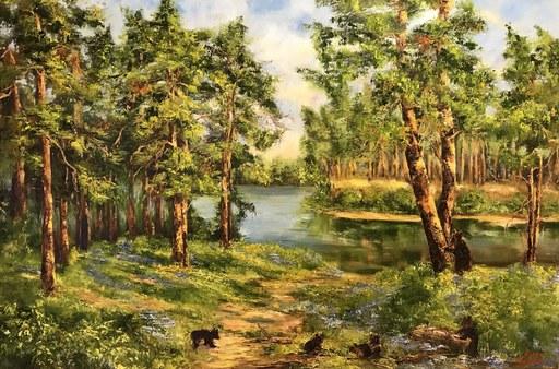 Diana MALIVANI - Pintura - A Path to the Lake