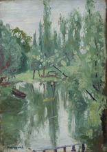 Albert MARQUET - Painting - L'étang, paysage en forêt
