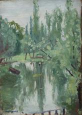 Albert MARQUET - Peinture - L'étang, paysage en forêt
