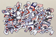 Jean DUBUFFET (1901-1985) - Racecourse, from: Fables | Course la Galope