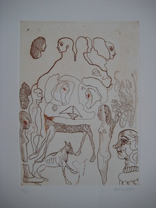 Jorge CASTILLO - Grabado - GRAVURE 1977 SIGNÉE AU CRAYON NUM125 HANDSIGNED NUMB ETCHING
