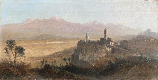 Agostino FOSSATI - Pittura - Veduta di Arcola e della Valle del Magra, La Spezia
