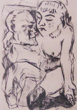 Max BECKMANN (1884-1950) - Illustration for Chapter Two, from: The Duchess | Die Fürsti