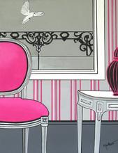Brigitte THONHAUSER-MERK - Pintura - La chaise rose