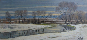 Valeriy NESTEROV - Pintura - Likovka river. Moscow district