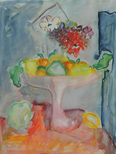 Jean-Pierre LAGRUE - Dessin-Aquarelle - NATURE MORTE