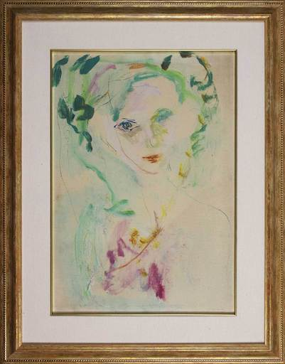 Ernesto TRECCANI - Gemälde - Parigi Eva Celeste
