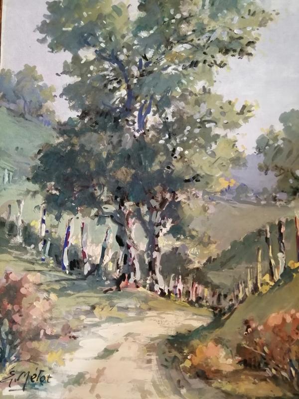 Edmond Amédée MELOT - Pintura - Au tournant