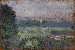 Camille PISSARRO - Peinture - Le grand noyer et le pré, Eragny