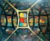 Ernst Reno JUNGEL - Painting - composition futuriste