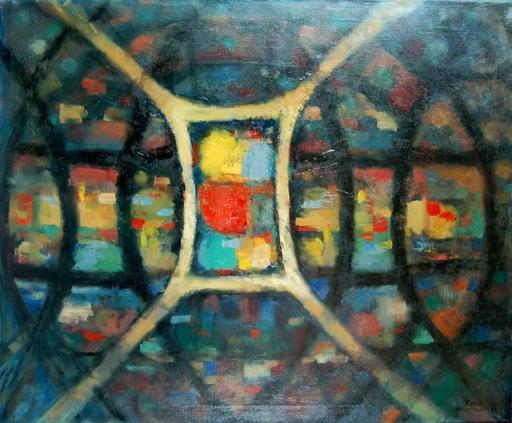 Ernst Reno JUNGEL - Pintura - composition futuriste