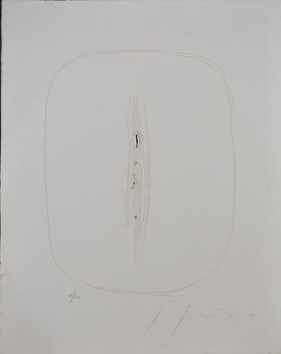 Lucio FONTANA - Grabado - Spatial Concept I, from: Six Original Etchings