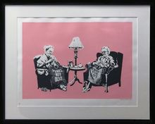 班克斯 - 版画 - Grannies signed