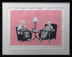 BANKSY - Estampe-Multiple - Grannies signed