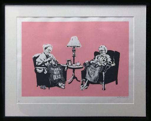 BANKSY - Stampa Multiplo - Grannies signed