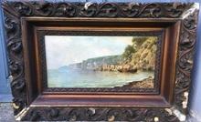 Giuseppe CARELLI - Pintura - Paisaje costero