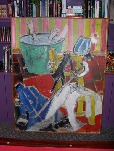 Bernard LORJOU - Painting - LESSIVEUSE DU SAINT-CYRIEN