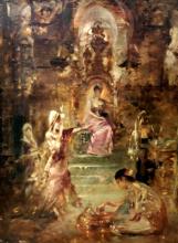 "Georges Antoine ROCHEGROSSE - Painting - ""Semiramis Queen of Assyria - The throne room"" Circa 1904-07"