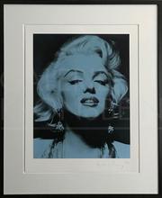 Russell YOUNG - Grabado - Marilyn Portrait Portfolio, blue